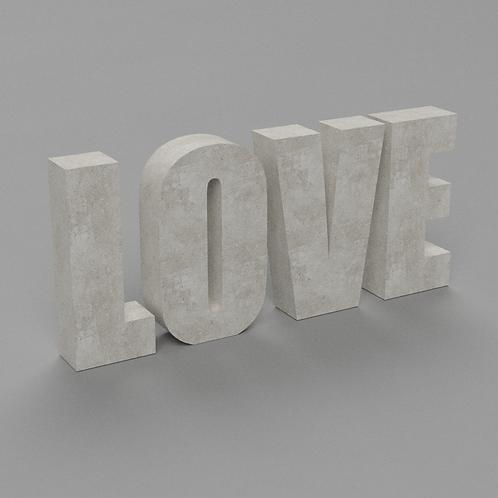 Love Betonbuchstaben