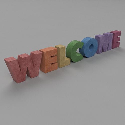 Welcome Betonbuchstaben