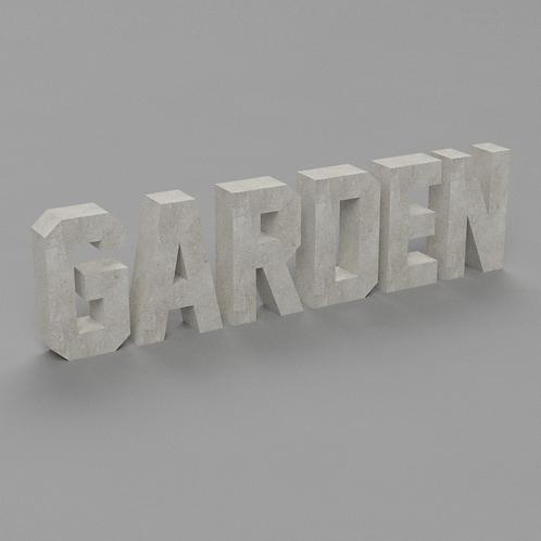 Garden Betonbuchstaben