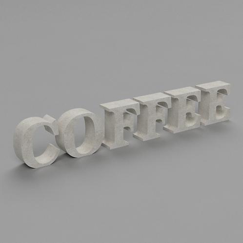 Coffee Betonbuchstaben