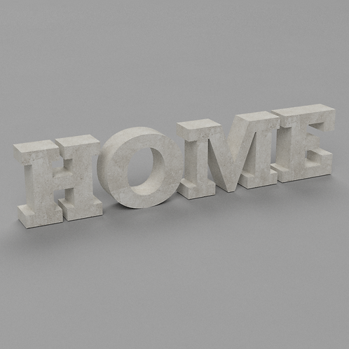 Home Betonbuchstaben