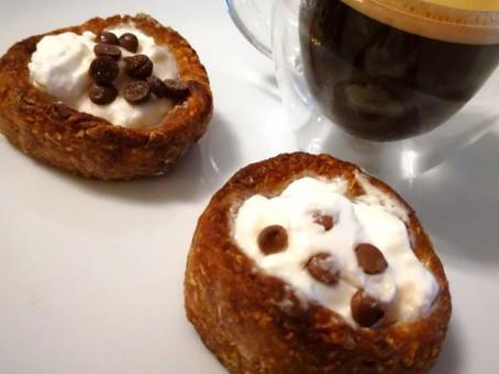 Mini - cestini di cereali e yogurt greco