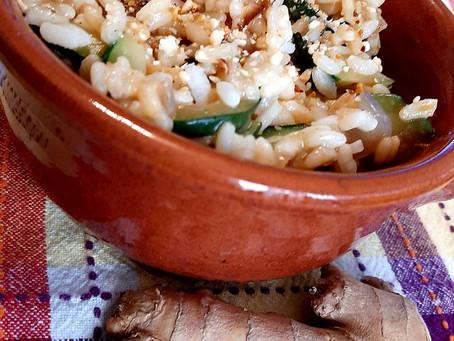 Tempo di zenzero: risotto zucchine e nocciole al profumo di zenzero