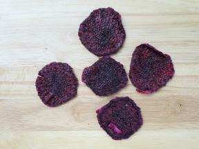 Dried purple dragonfruit