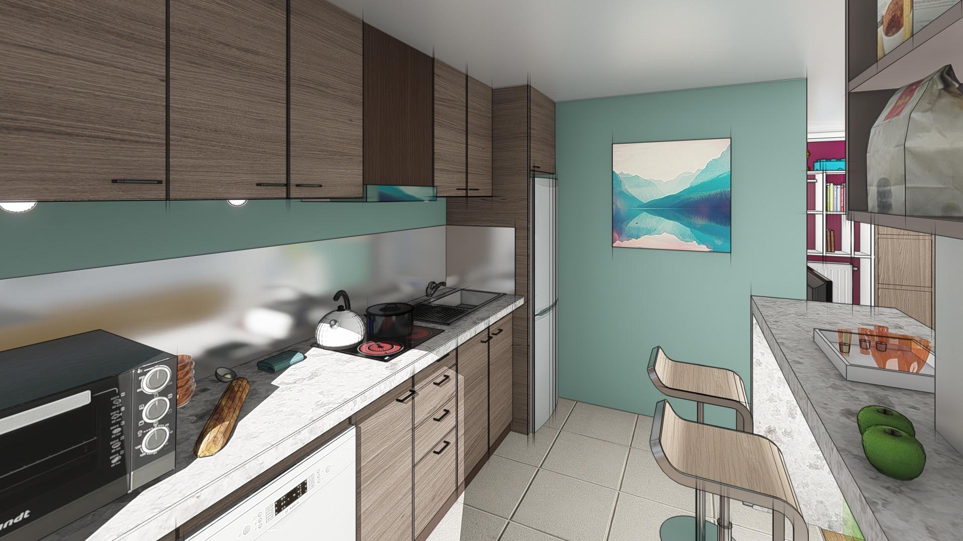 Projection d'une cuisine aménagée © Imagine