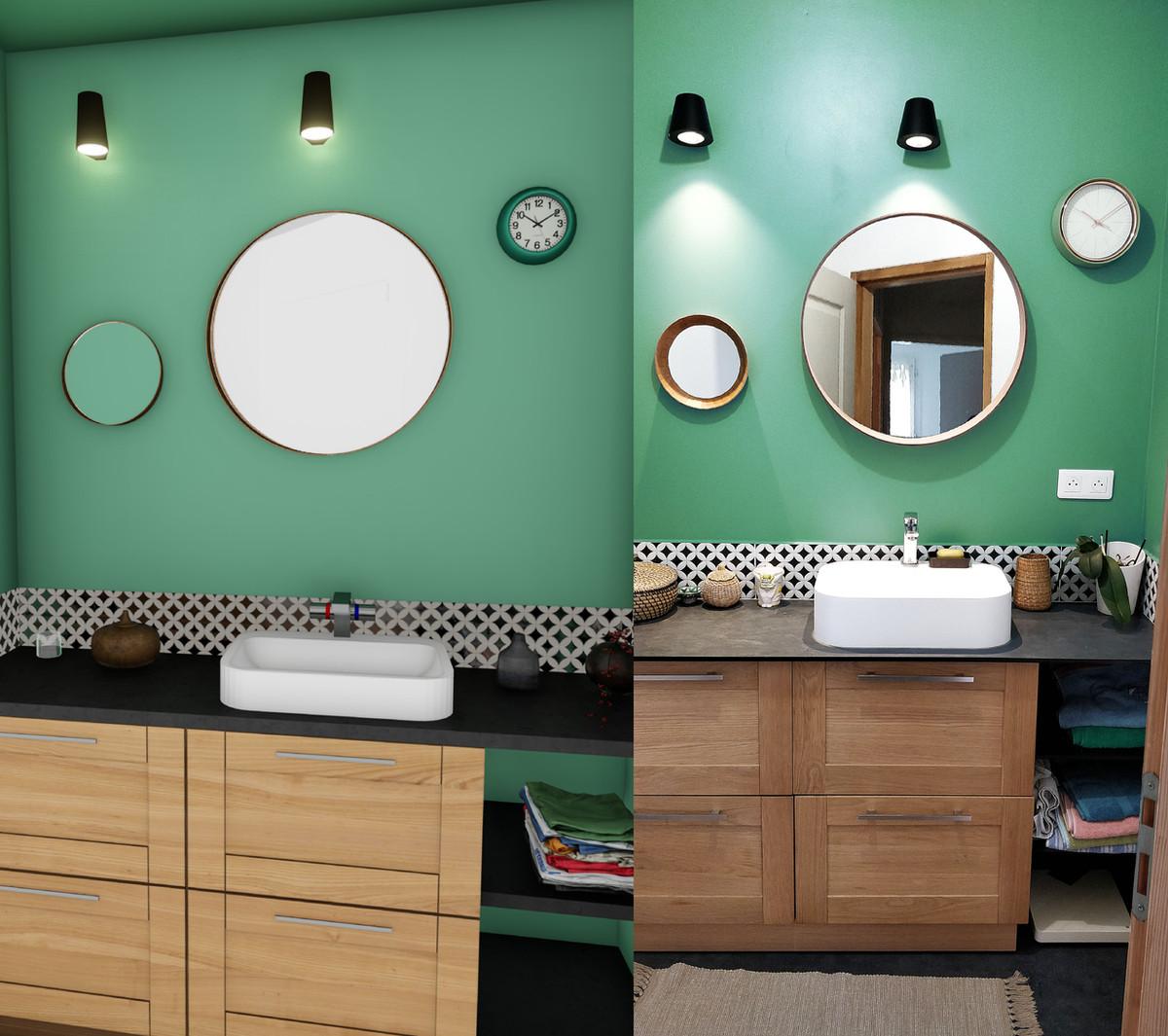 Salle de bain particulier Thouaré sur Loire © Imagine