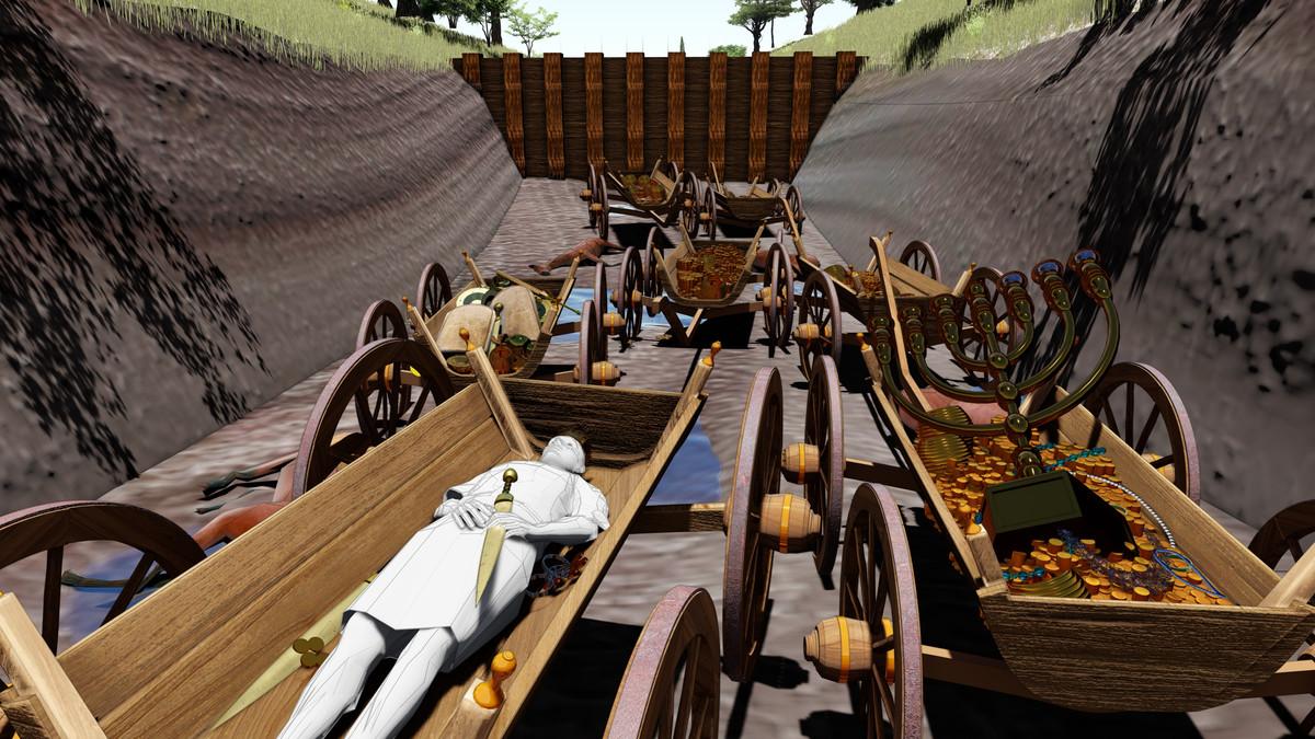 Reconstitution du tombeau d'Alaric © Imagine