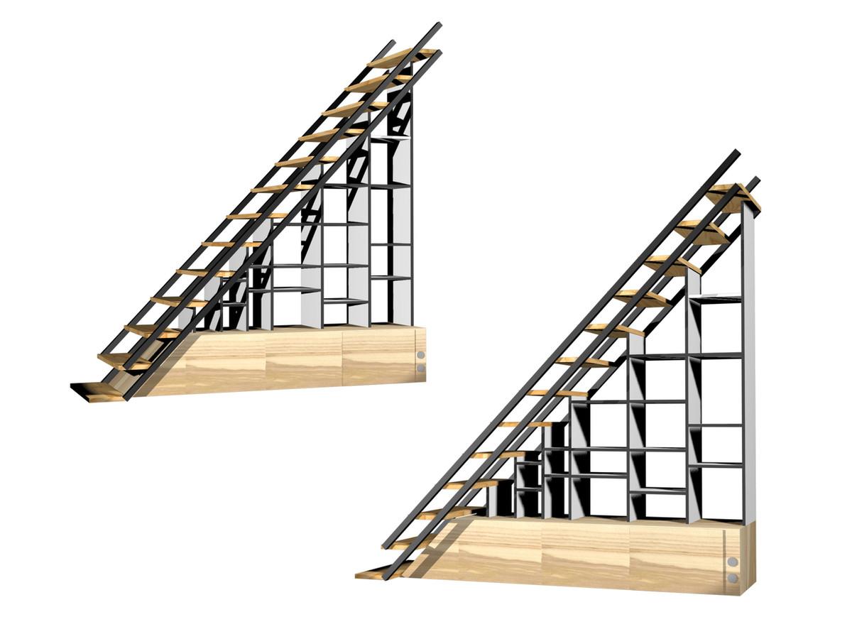 Rangements sous escalier © Imagine