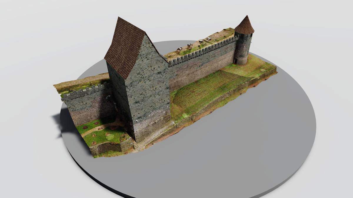 Reconstitution de la tour rouge de Chateau Thierry © Octus