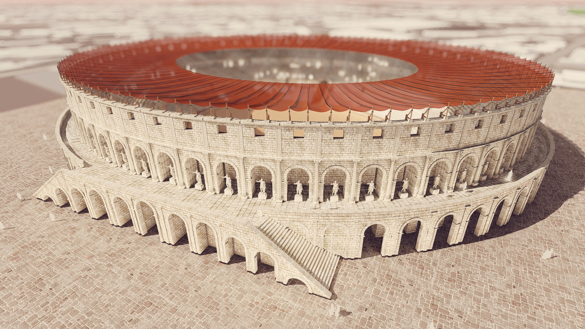 Reconstitution de l'amphithéatre de Samarobriva © Octus