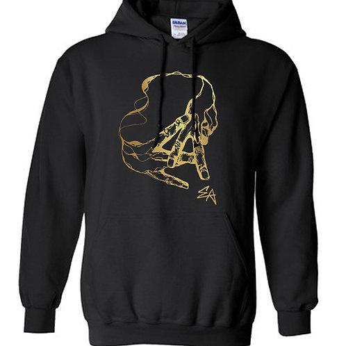 EA originals black hoodie [gold]