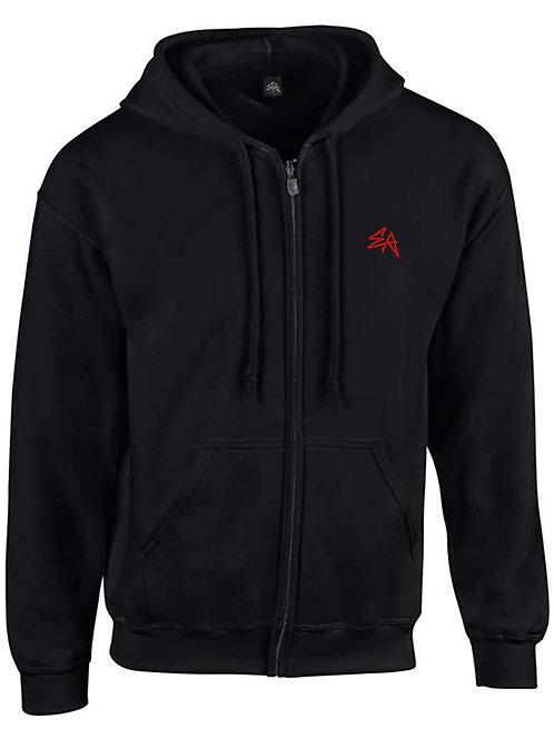 EA originals zip hood (red print)