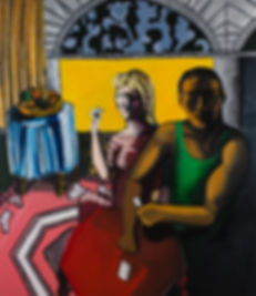 A Moroccan man and a Polish woman playin