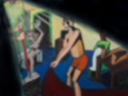 Under the rug,Oil on canvas 160x140.jpg