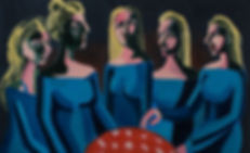 Elite women, oil on canvas, 80X130