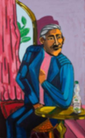 Portrait of an Iraqi man drinking arak,