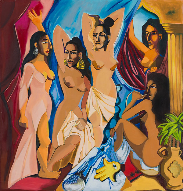 El anisat min el Basrs, oil on canvas, 2