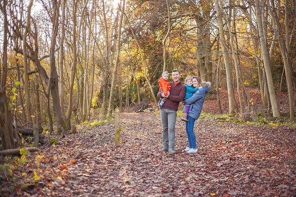 Autumn Woodland family hug