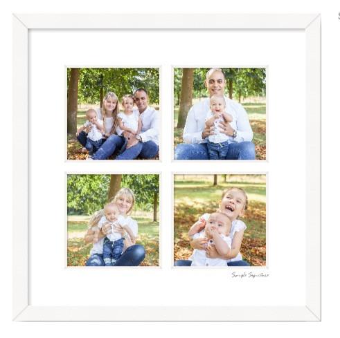 Four photos in a frame