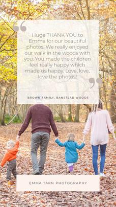 family on woodland walk