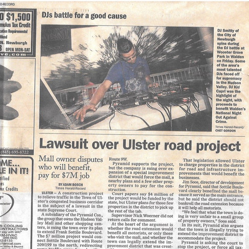 I was in the Times Herald Record newspaper, when I was 19.