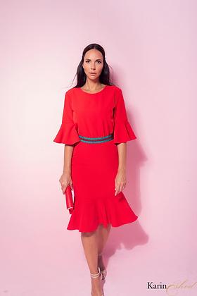 שמלת פודאנג אדומה
