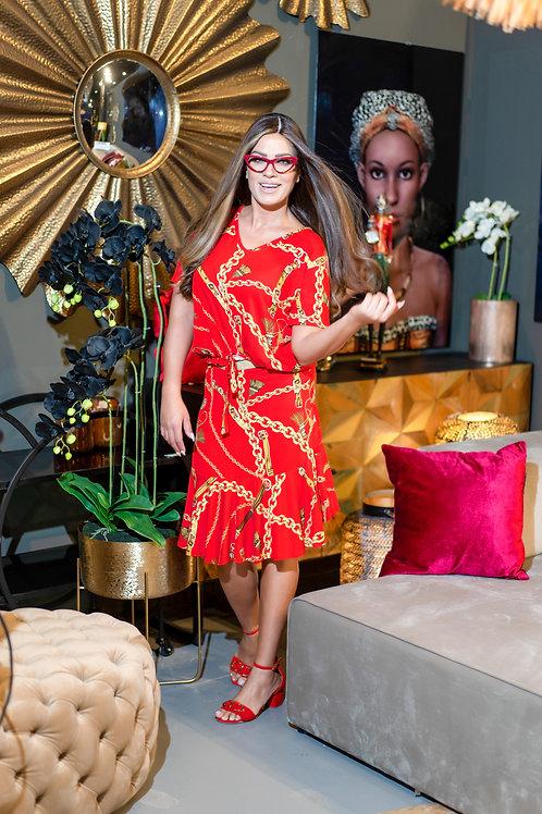 חליפה אדומה בסגנון וארסצה קצרה