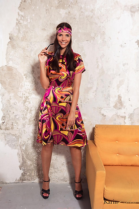 שמלת סטאן סגול