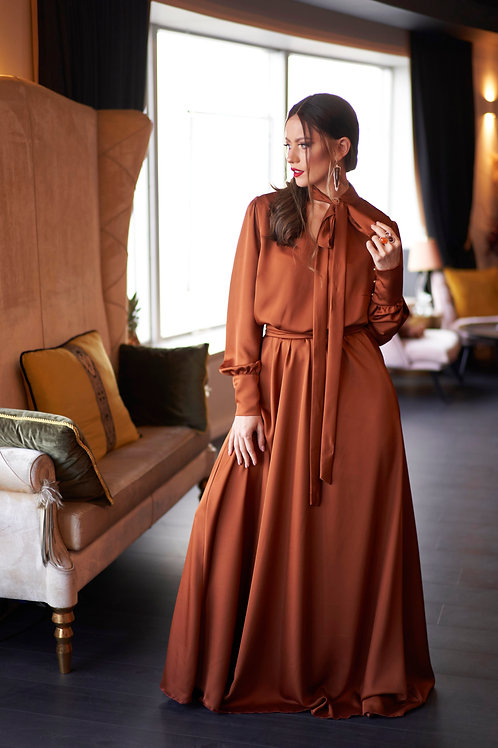 שמלת חמרה קשירה ארוכה