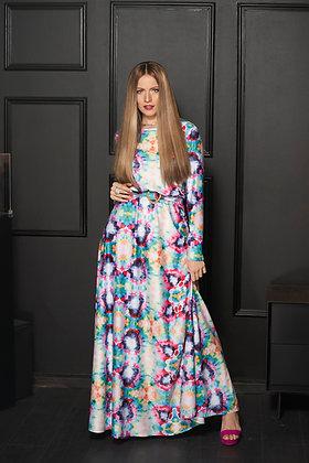 שמלת אקונומיקה סגול\ורוד