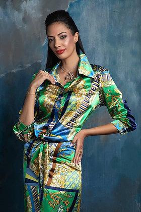 חליפה בסגנון וארסצה ירוקה