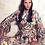 Thumbnail: שמלה בסגנון הגוצי  פרחונית בצבע באז קלושית