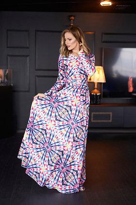 שמלת פייס מבד לייקרה ארוכה