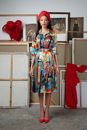 שמלת תיק תק בסגנון וארסצה