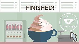 Kohi Cafe Animated Web Advertisement