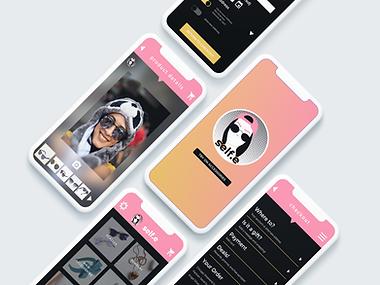 self.e App iPhone Mockups