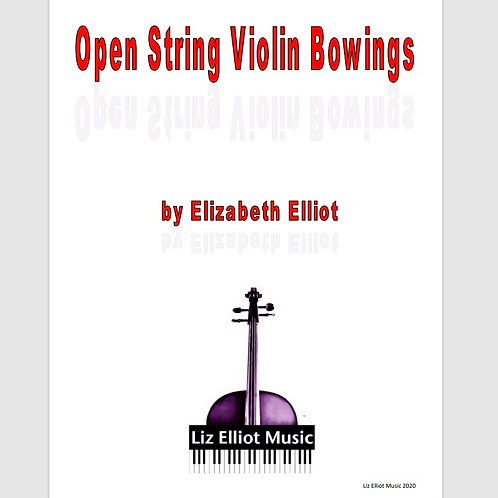 Open String Violin Bowings