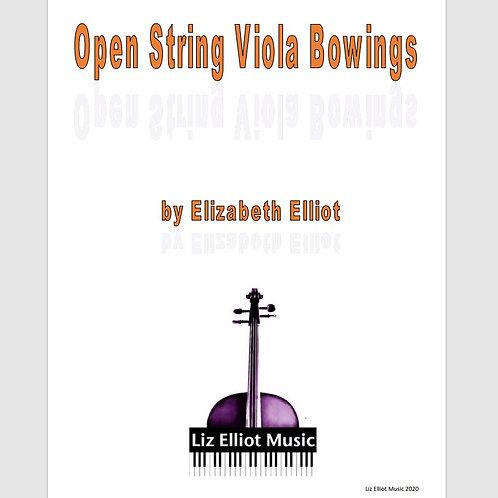 Open String Viola Bowings