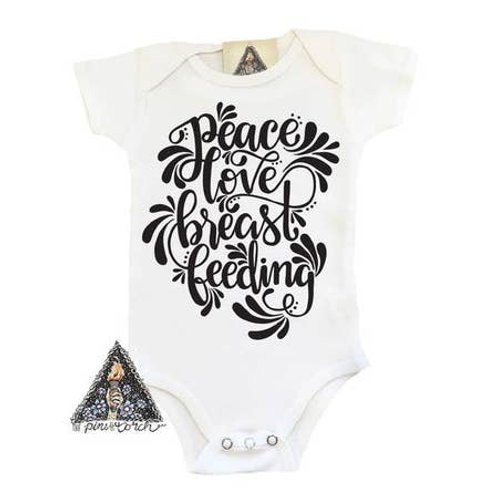 Peace Love Breastfeeding Bodysuit