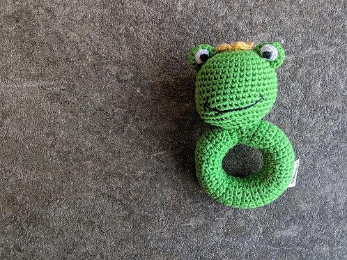 Frog Prince Crochet Rattle