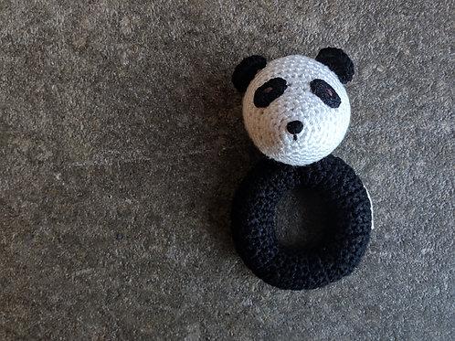 Panda Crochet Rattle