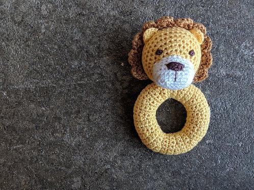 Lion Crochet Rattle