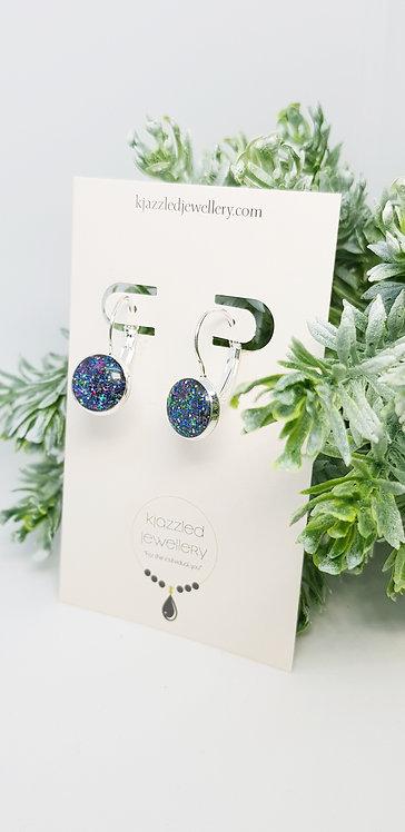 Opal style 10mm resin earrings