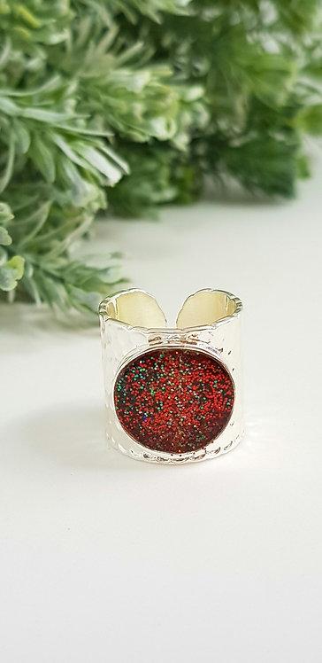 Christmas cuff ring