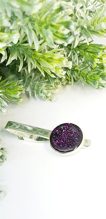 Tie clip (purple)