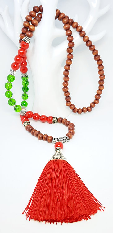 """This is Christmas"" tassel necklace"