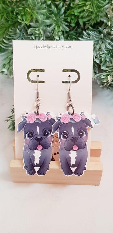 Frenchie earrings