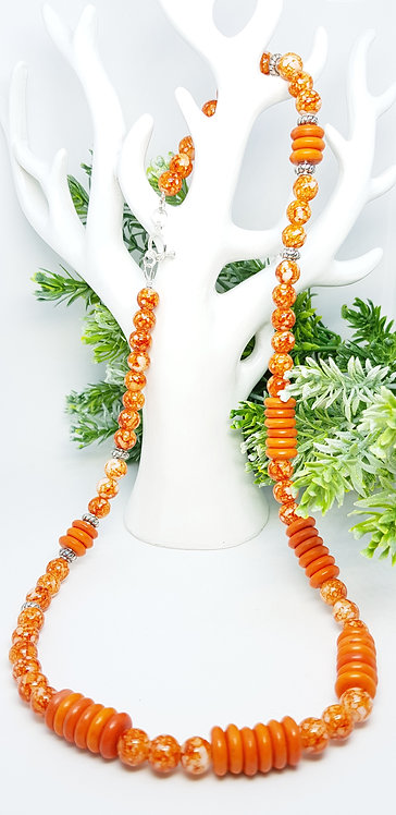 Orange burst necklace