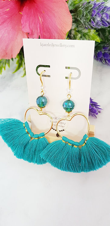 Mirrorball tassel earrings