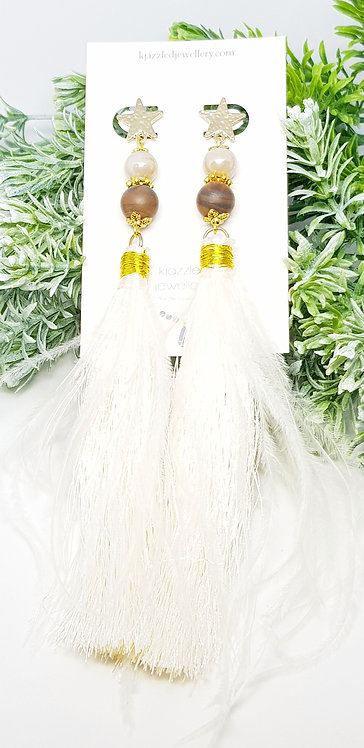 Tigerseye tassel earrings